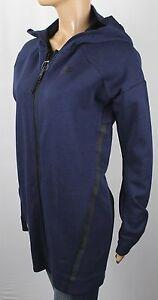 Nike Navy Blue Full Zip Hooded Tech Fleece Cocoon Mesh Jacket NWT $180