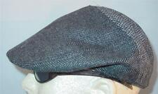 NWT Mens Houndstooth  Herringbone Gray Driving Beret Hat Size S/M LAST ONE!__B10