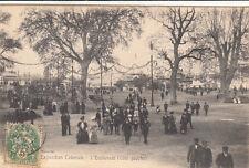 MARSEILLE expo coloniale 1906 l'esplanade côté gauche timbrée 1907