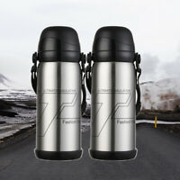 Thermos Cup - Stainless Steel Vacuum Insulated Travel Mug Coffee Mug Sliver 27Oz
