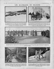Soldiers Deutsches Heer Poland Pologne Polska Gerdauen Traineaux sleds 1915 WWI