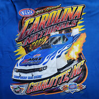 NHRA Drag Racing T Shirt 8th Annual 2015 Charlotte North Carolina Blue Mens XL