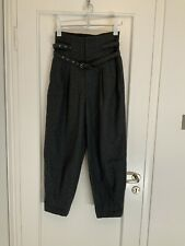 Comme Des Garcons Grey Wool Trousers High Waist Size 6-8