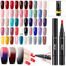 LEMOOC 5ml Soak off Nail UV Gel Polish Pen Nail Art No Wipe Top Base Coat UV LED