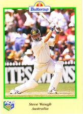 BUTTERCUP 1995 STEVE WAUGH Bat AUSTRALIA ACB Australian Cricket Card