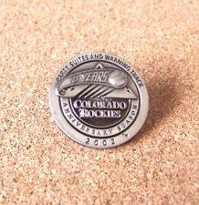 Colorado Rockies 2002 Party Suites & Warning Track 10 Years Anniversary Seas pin