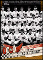 Detroit Tigers 2020 Topps Decade's Best Series 2 5x7 Gold #DB-1 /10
