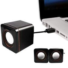 Square Usb Power Wired Computer Speaker Stereo 3.5mm Jack For Desktop Pc Laptop