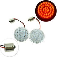 Red 1156 Bullet LED Turn Signal Inserts For Harley Touring Softail Sportster
