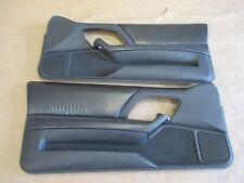 93-96 Camaro Z28 Door Panels Graphite Leather MW LH RH Pair 0418-15
