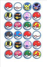 Pokemon mezclado Pokeball Hada Taza Para Decoración De Pasteles Glaseado Toppers X 24 en