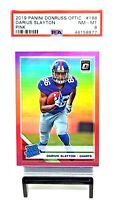 2019 Optic PINK REFRACTOR Giants DARIUS SLAYTON RC Football Card PSA 8 / Pop 2