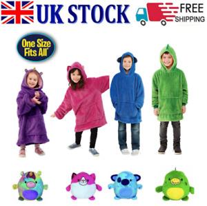 Kid Blanket Sweatshirt Huggle Pets Hoodie Plush Soft Warm Blanket Coat Pillow P