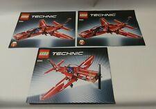LEGO® Technik 9394  Baupläne 1 + 2 + 3   für  Düsenflugzeug