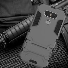 Hybrid Impact Skin Armor Protective Stand Case Shockproof Cover For LG G6 G5 G4