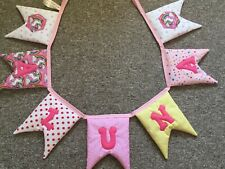 Name Banner Personalised Letter Padded Unicorn  Bunting Garland Flags Girls Room