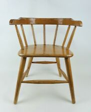 Vintage Wooden Child's Chair Captain Style Mid Century 1950s Blonde Finish