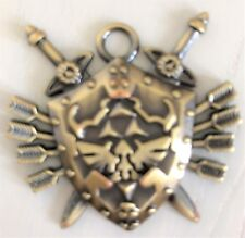 Legend of Zelda Metal Shield Sword Blade Skyward design Pendant Necklace
