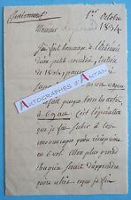 L.A.S 1834 de Lapierre de Châteauneuf à Raynouard NAPOLEON KLEBER HOCHE MASSENA