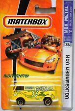 MATCHBOX 2007 MBX METAL VOLKSWAGEN VAN #36 YELLOW W+