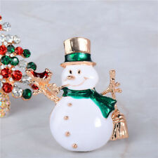 Fashion Crystal Christmas Santa Claus Snowman Brooch Pin Costume Jewelry Gifts