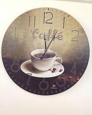 GRANDE (60cm) OROLOGIO DA PARETE MURO VINTAGE STILE ANTICO LEGNO CAFFE' BAR €89