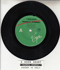 "FEARGAL SHARKEY  A Good Heart 7"" 45 rpm vinyl record + juke box title strip NEW"