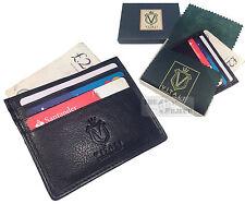 Vitali Cuero Real tarjeta de crédito Billetera Bolsillo Manga Slim titular de ID de negocio