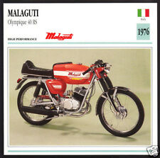 1976 Malaguti Olympique 40 RS 50cc Italy Motorcycle Photo Spec Sheet Info Card