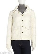 NWT $248 Juicy Couture Beige Cream Hooded Bomber Winter Jacket in Dial Size XL