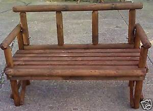 NEW HAND MADE RUSTIC WOOD 2 SEATER GARDEN  BENCH