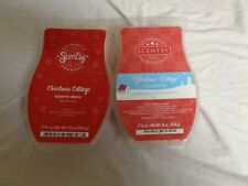 Scentsy 2 USED 17 oz Christmas Cottage Frangrance Bars (RETIRED)