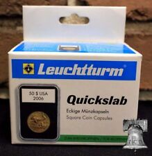 5 Lighthouse QUICKSLAB Coin Holder 39mm 1oz Silver Round Poker Chip Case Slab