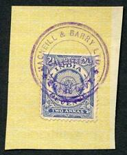 India KGV 2a Revenue Stamp on piece