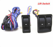 12V Universal Car Power 2 Doors Window Glass Lift Switch Harness Cable Sets New