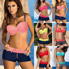 ee8b3e3b683 Color Block Sexy Regular Size Bikini Swimwear for Women for sale | eBay