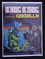 KING KONG contre GODZILLA affiche poster film cinema scenario 1962