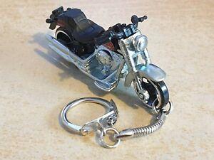 Diecast Harley Davidson FATBOY Model Toy Motorcycle Black Keyring Freepost