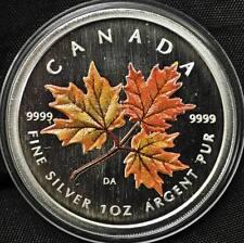 2001 Canada $5 Coloured Silver Maple Leaf