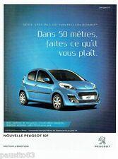 PUBLICITE ADVERTISING 106  2012  la nouvelle Peugeot 107 navteq on board