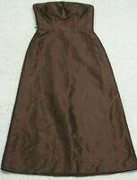 Bill Levkoff Brown Sleeveless Dress Size Eight 8 Woman's Women Polyester Acetate