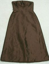 Bill Levkoff Brown Sleeveless Dress Size Eight 8 Woman's Women Polyester Acetate