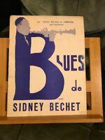 Sidney Bechet Blues Recueil pour piano Žditions du Carrousel 1952