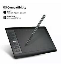 10moons 1060 Plus Professional Digital Graphic Drawing Tablet With Digital Pen