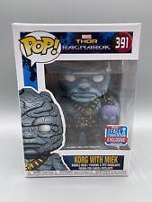 Funko POP! Marvel Thor Ragnarok-Korg With Miek #391 Fall Convention 2018 W/Case