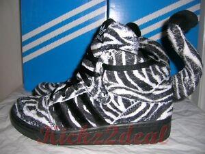 NEW ADIDAS JS ZEBRA Shoes MENS SZ 8 US Black/White Jeremy Scott G95749 Panda