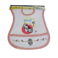 JUVENTUS bavaglino in cotone bordato rosso e bianco da bambino prodotto ufficial
