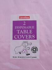 Papel Mantel Paquete de 2 cubiertas desechables Mesa de fiesta rosa 3' X 3' Caroline