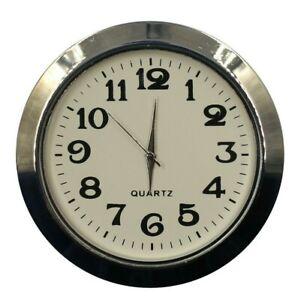 Einbau-Uhr Einsteckuhrwerk Einbauuhr Einsteckwerk ARABISCH  Ø 55 mm Silber Nr.30