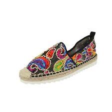 Zapatos planos de mujer negro textiles, Talla 38